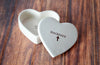 Custom Baptism Gift, First Communion Gift or Confirmation Gift - Heart Keepsake Box - With Gift Box
