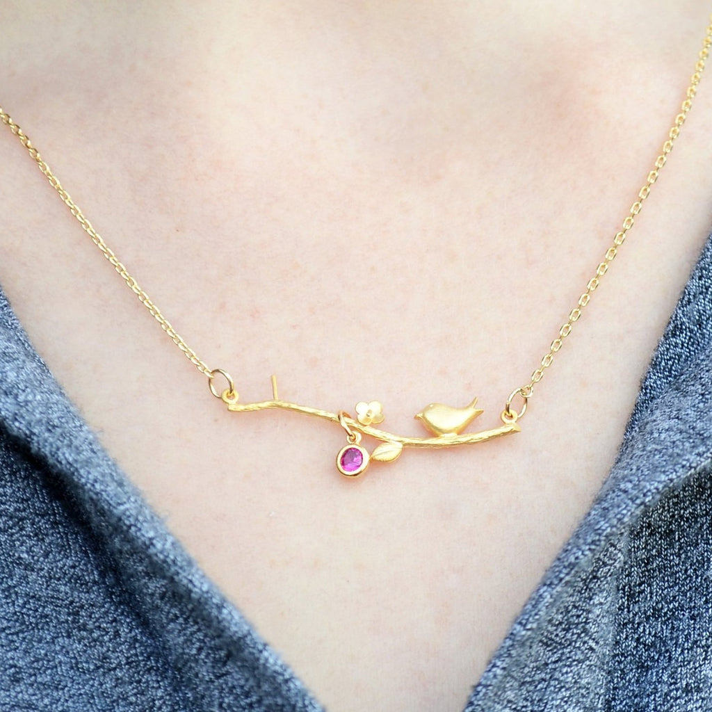 Mother's Day Gift, Mother's Day Gift Necklace, New Nom Necklace, Mom Gift, Mom Necklace, Mom Necklace Birthstone, Mom Necklace Bird