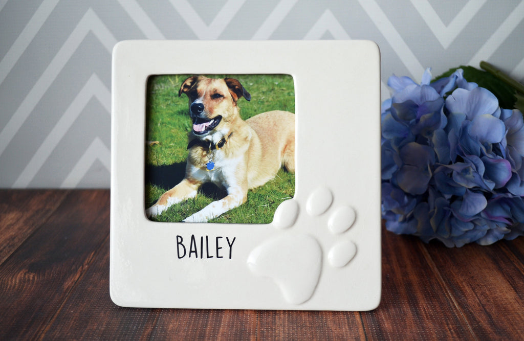 Personalized Dog Frame - Dog Gift For Owners - Pet Sympathy Gift - Personalized Frame