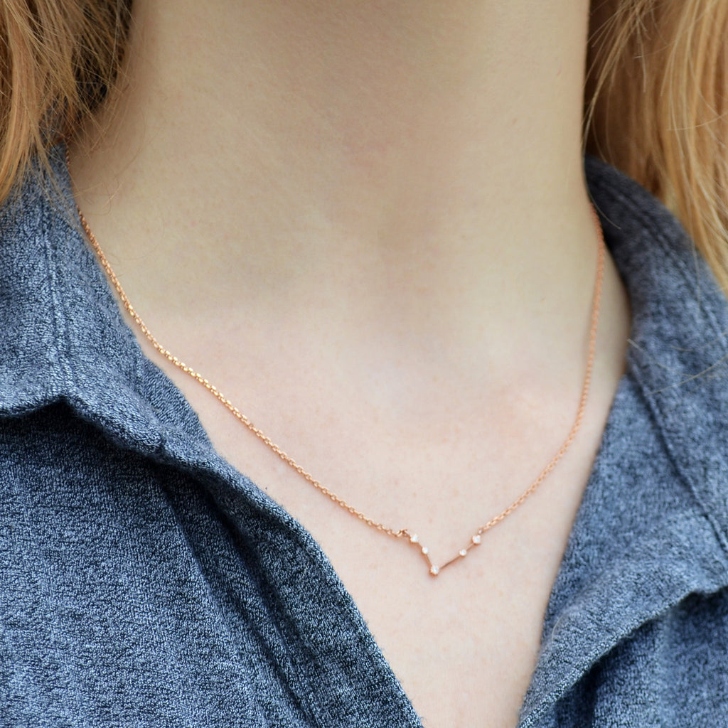 Rose Gold Constellation Necklace, Zodiac Jewelry, Zodiac Necklace, Astrology Necklace
