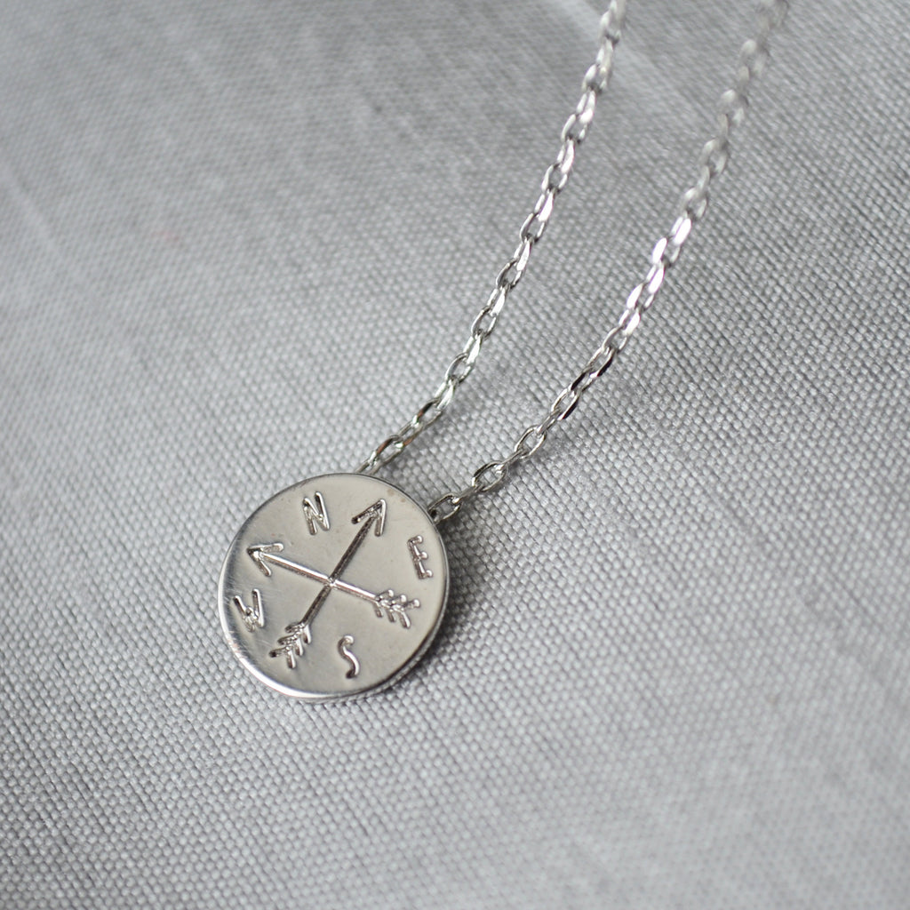 Graduation Gift, Compass Necklace, Goodbye Gift, New Job Gift, Moving Gift, College Gift, Friend Gift, Gift for Her - Gift Boxed