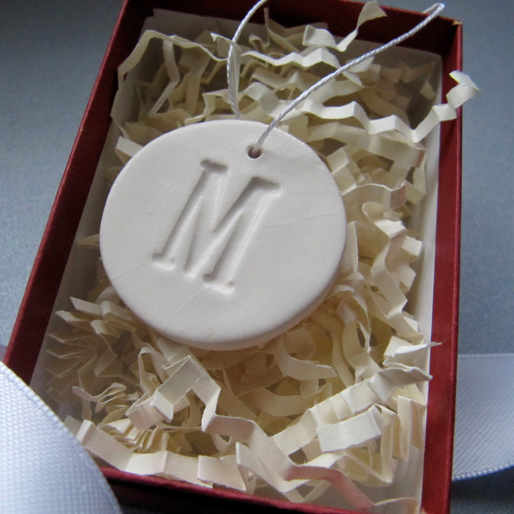 Small Initial Christmas Ornament - SHIPS FAST - Gift Boxed and Ready To Give