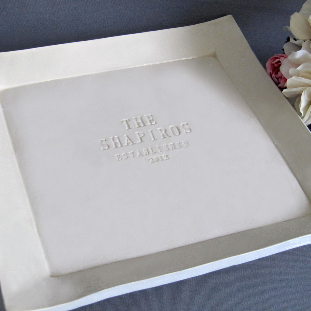 Large Custom Wedding Signature Guestbook Platter or Heirloom Wedding Gift - Gift Boxed