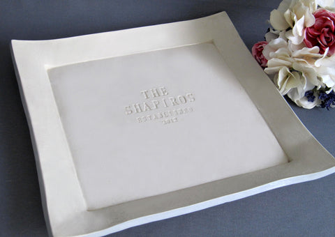 Round Personalized Signature Guestbook Platter or Wedding or Housewarming Gift - Gift boxed
