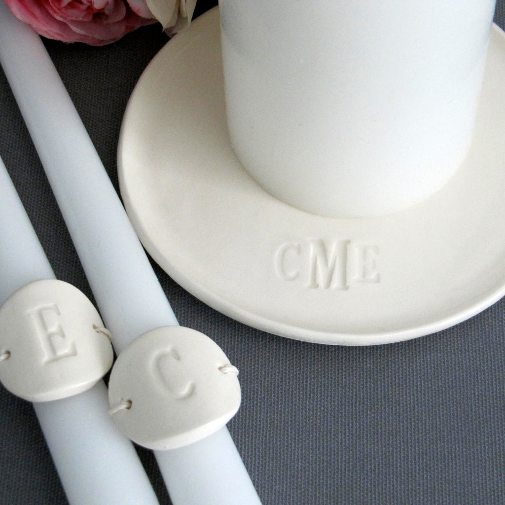 PERSONALIZED Unity Candle Ceremony Set Monogrammed