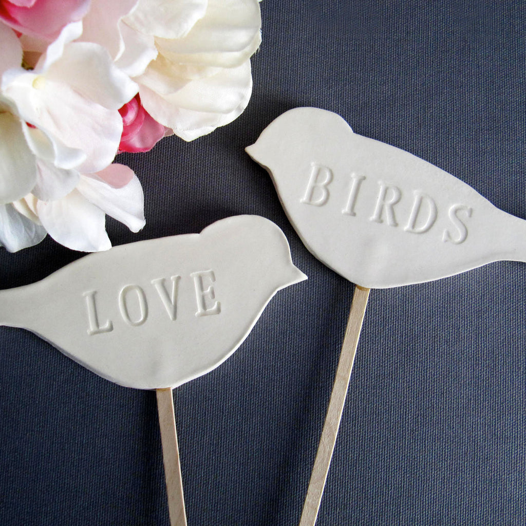 Love Bird Wedding Cake Toppers - SHIPS FAST - Bird Cake Toppers