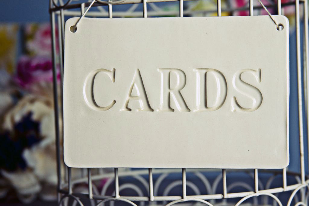 Cards Sign for Wedding Card Box