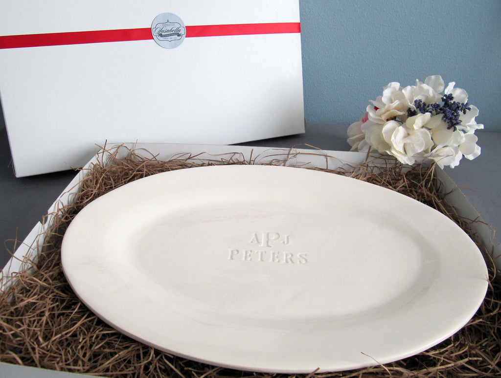 Custom Wedding Signature Guestbook Oval Platter or Heirloom Wedding Gift - Gift boxed