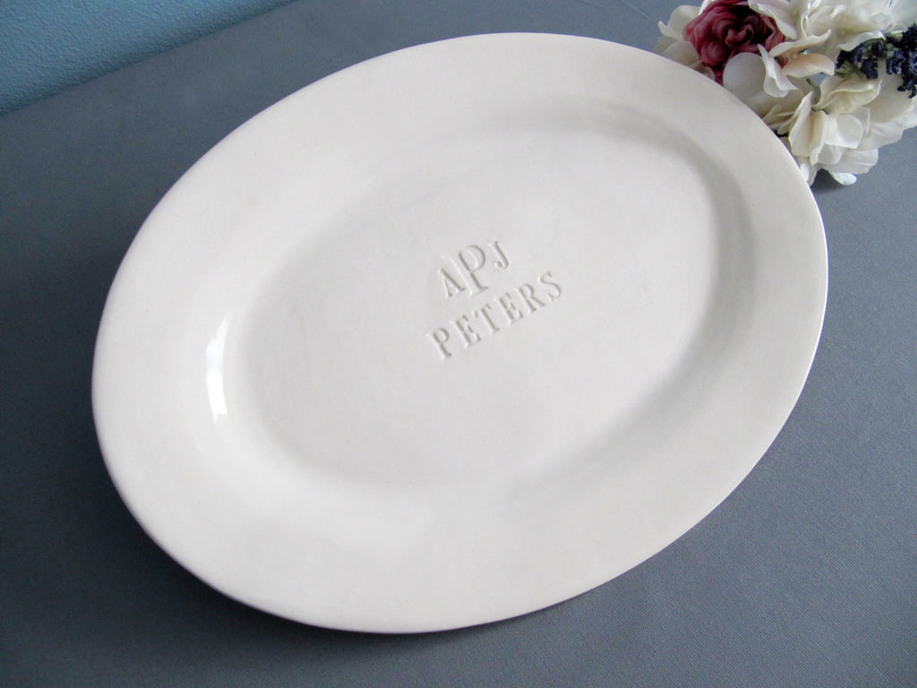 Custom Wedding Signature Guestbook Oval Platter or Heirloom Wedding Gift