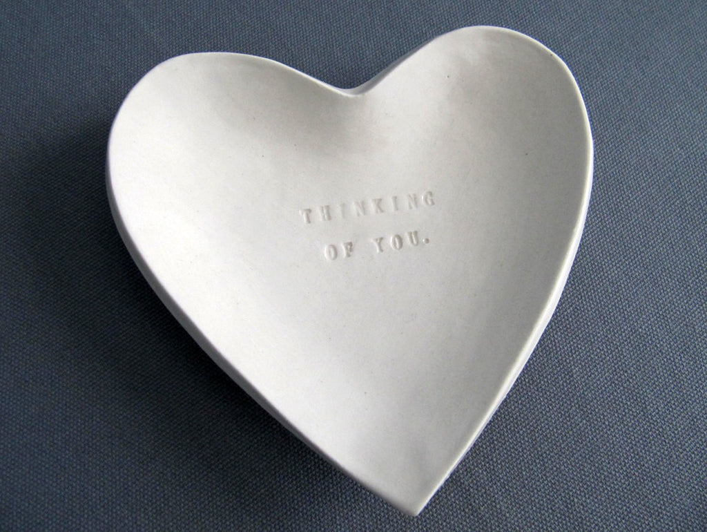 Sympathy Gift - Thinking of You Heart Shaped Bowl - SHIPS FAST - Gift Packaged