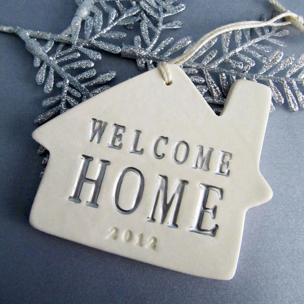 Welcome Christmas Ornament - Silver Welcome Home 2019 - SHIPS FAST - Gift Boxed and Ready to Give