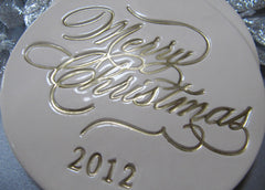 Large Merry Christmas 2017 Ornament - Gift Packaged