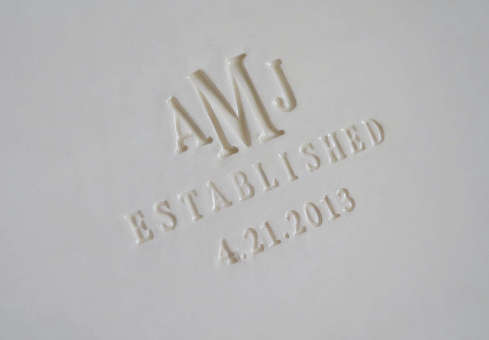 Large Rectangular Wedding Signature Guestbook Platter or Wedding Gift - Gift boxed