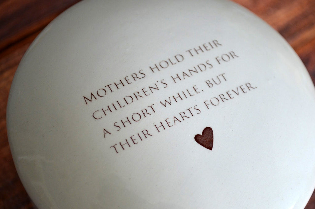 Unique Mother's Day Gift - Keepsake Box - Mothers Hold Their Children's Hands for a Short While But Their Hearts Forever - With Gift Box