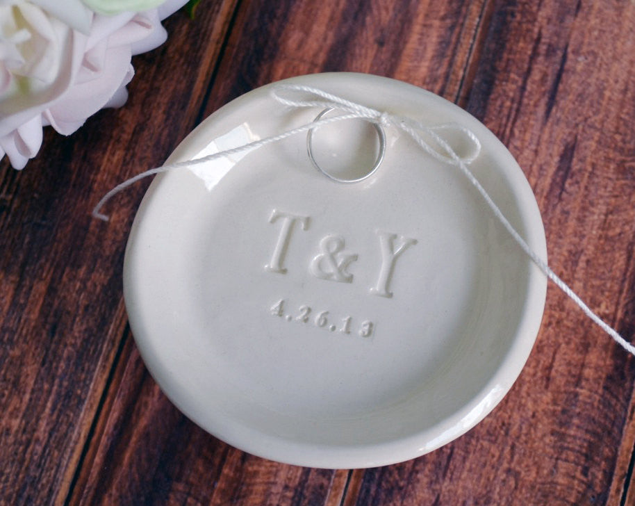 Personalized Round Ring Bearer Bowl - Gift Bagged & Ready to Give
