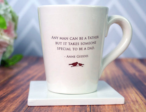 Unique Fathers Day Gift - Jumbo Coffee Mug - Any Man Can Be a Father but it Takes Someone Special to be a Dad