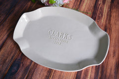 Personalized Platter - Housewarming or Wedding Platter - Gift Boxed & Ready To Give