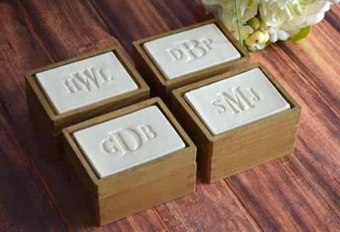 Set of 4 PERSONALIZED Bridesmaid Gifts or Hostess Gifts - Keepsake Box - Gift Packaged & Ready to Give