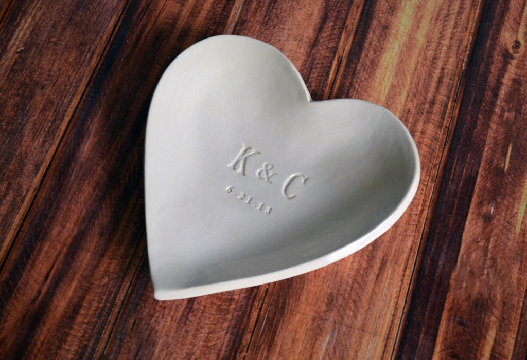 Large Personalized Heart Bowl - Wedding or Anniversary Gift - Gift Boxed and Ready to Give
