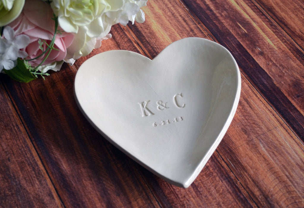Large Personalized Heart Bowl - Wedding or Anniversary Gift