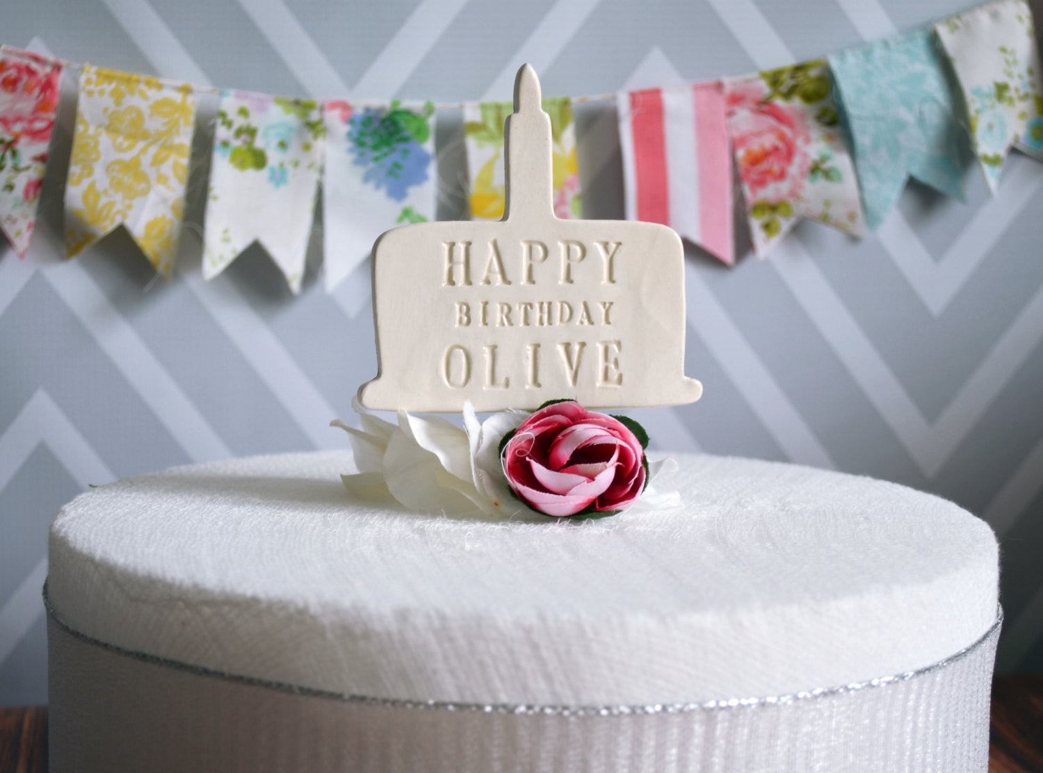 Personalized Name Birthday Cake Topper