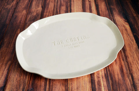 Personalized Plate with Family Recipe - Housewarming or Mother's Day Gift - Gift Boxed