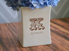 Personalized Vase - Housewarming gift, wedding gift or Client - With Gift Box