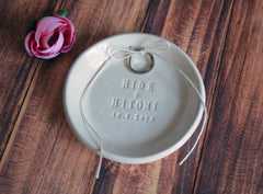Personalized Round Ring Bearer Bowl with Names - Gift Bagged & Ready to Give