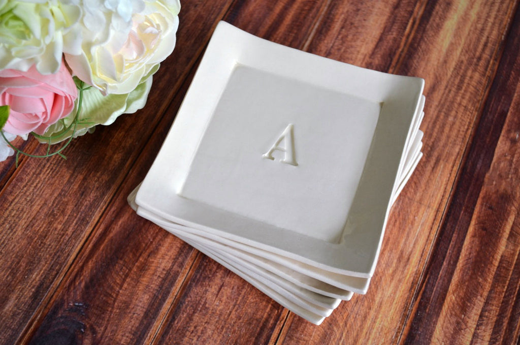 Personalized Appetizer Plates - Set of 6