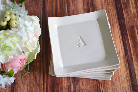 Personalized Appetizer Plates - Set of 6 - Gift boxed