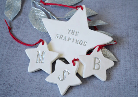 Baby's First Christmas Ornament - Personalized - With Name and Date - Gift Boxed