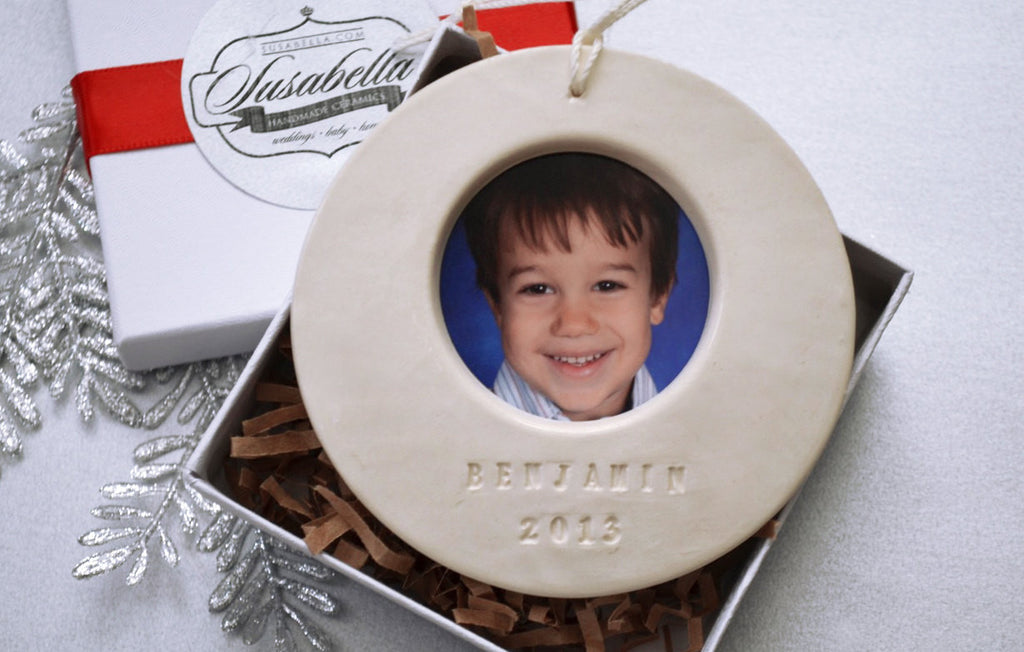 Personalized Picture Frame Christmas Ornament 2019 - Gift Boxed and Ready to Give