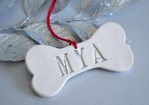 Personalized Dog Christmas Ornament with Name - Gift Boxed