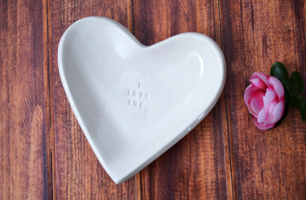 Anniversary Gift - I Love You - Heart Bowl - SHIPS FAST - Gift Packaged
