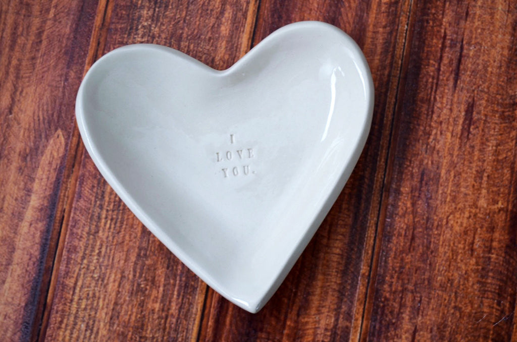 Anniversary Gift - I Love You - Heart Bowl - SHIPS FAST