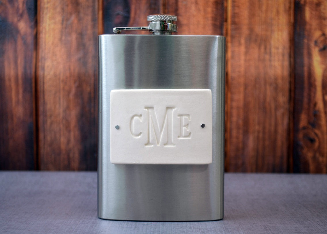 Personalized 8oz Flask - Unique Wedding or Groomsmen Gift