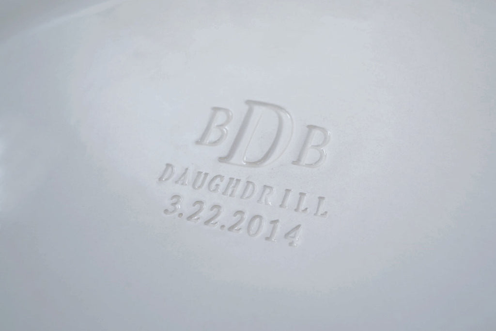 Monogrammed Wedding Signature Guestbook Oval Platter or Heirloom Wedding Gift with Names and Date