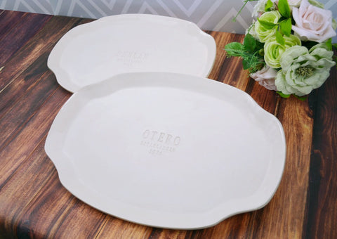 Unique Parent Wedding Gift -  Set of Large Personalized Wedding Platters - Gift boxed