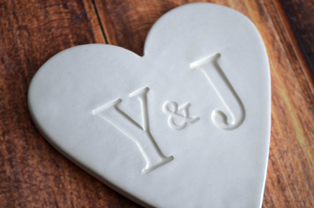PERSONALIZED Heart Wedding Cake Topper with Initals