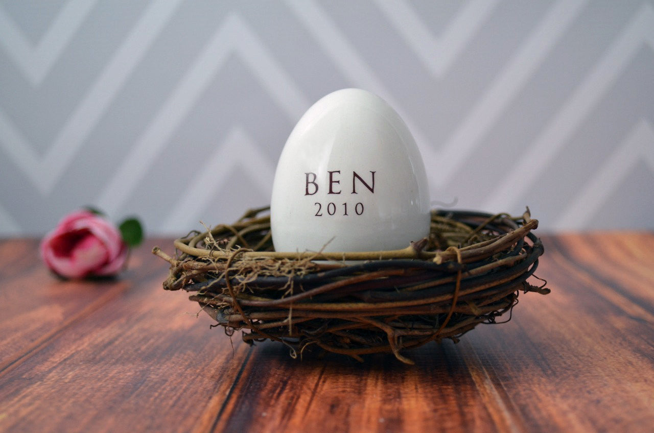 Personalized ceramic easter egg unique easter gift idea negle Image collections