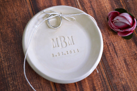 Ring Bearer Platter - Unique Ring Pillow Alternative