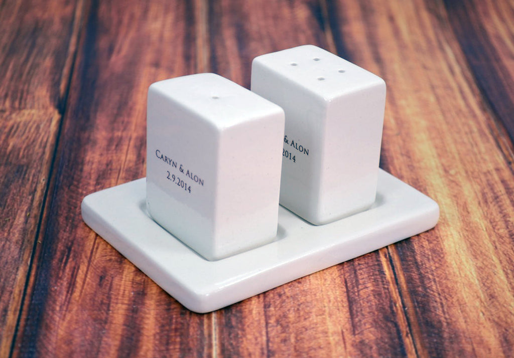 Personalized Salt and Pepper Shakers -Bridal or House Warming Gift