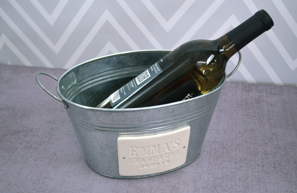Personalized Birthday Gift Or House Warming Gift Champagne Bucket