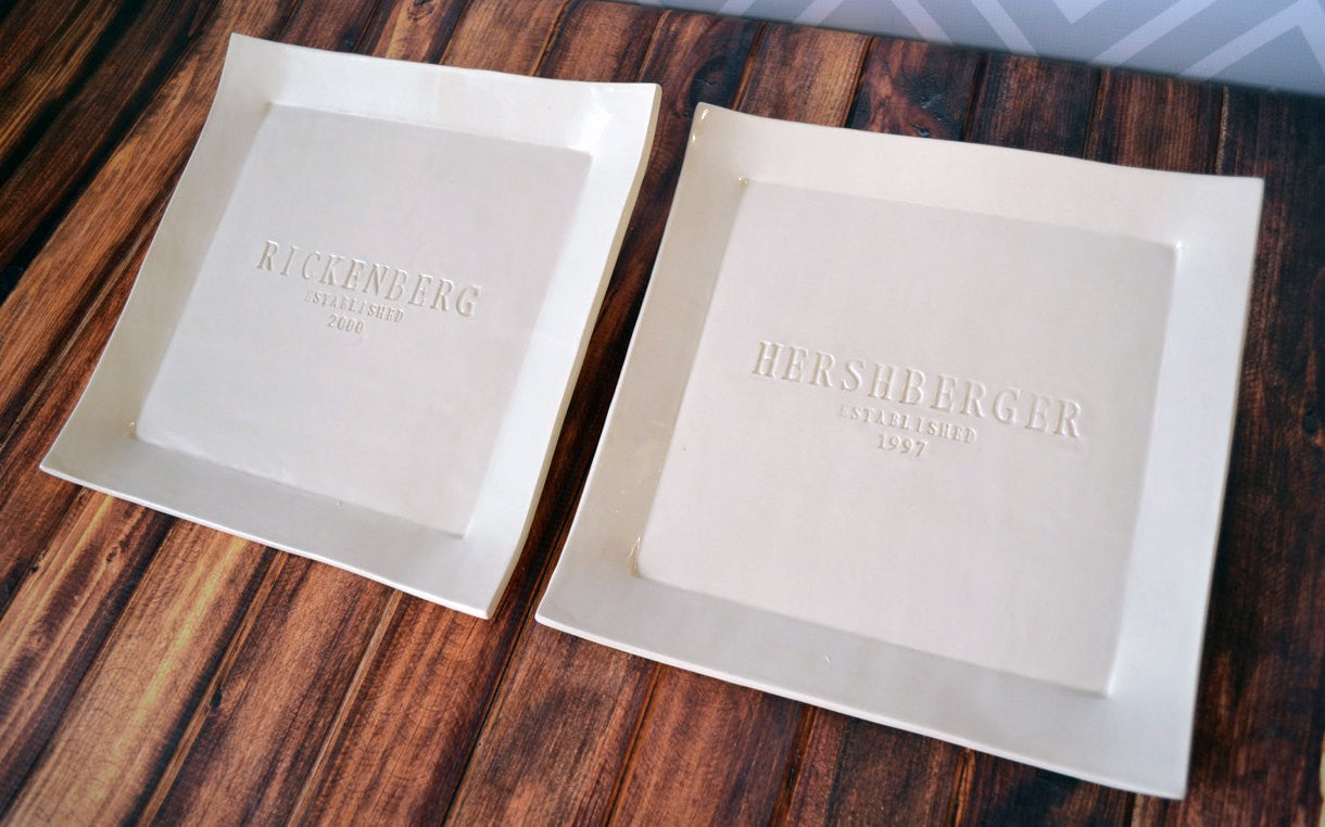 Set Of Personalized Square Platters Unique Parent Wedding Gift Gif