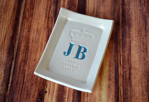 New Baby Gift - Personalized Miniature Baby Announcement Platter
