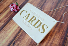 Gold Personalized Cards Sign for Wedding Card Box
