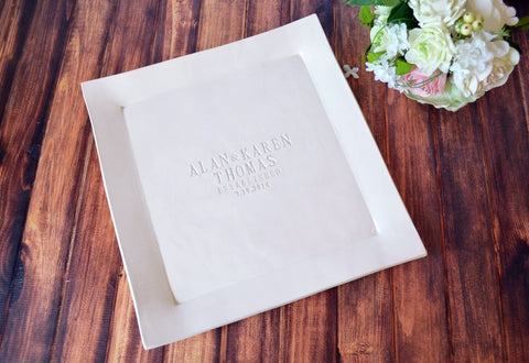 Extra Large Personalized Wedding Signature Guestbook Platter, Wedding Gift or Anniversary Gift With First and Last Names - Gift Boxed
