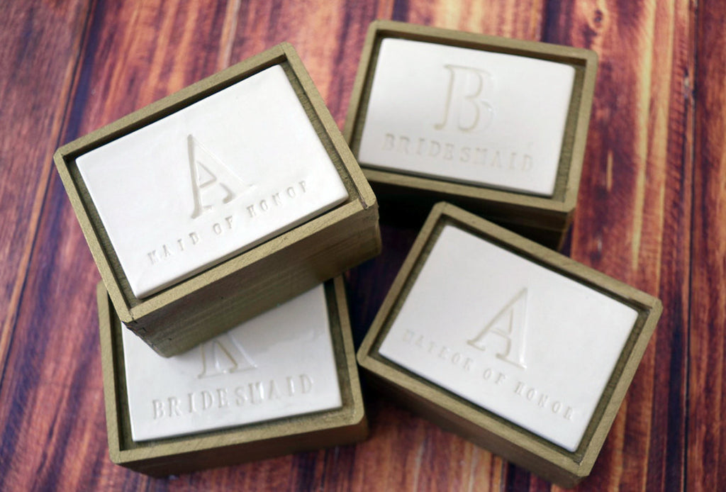 Set of 4 PERSONALIZED Bridesmaid Gifts with Initials - Keepsake Box - Gift Packaged & Ready to Give
