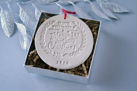 Baby kids ornaments have yourself a merry little first christmas ornament gift boxed solutioingenieria Gallery