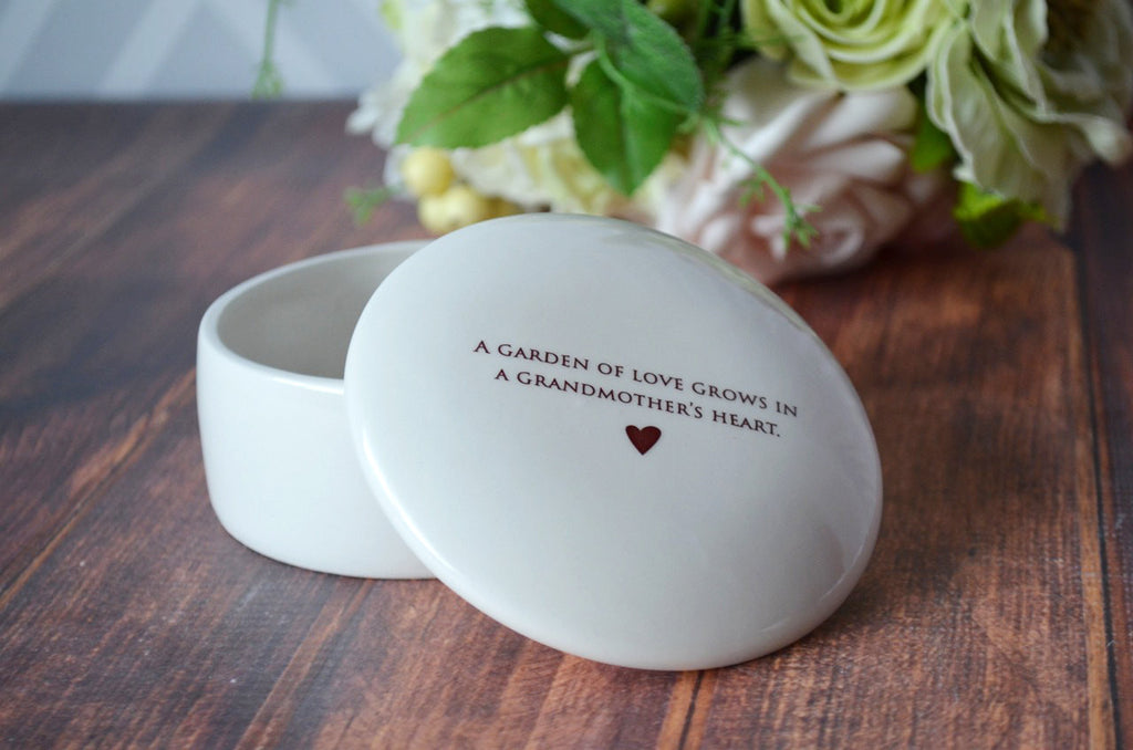 Unique Grandmother Gift -Keepsake Box - A Garden of Love Grows in a Grandmother's Heart - With Gift Box